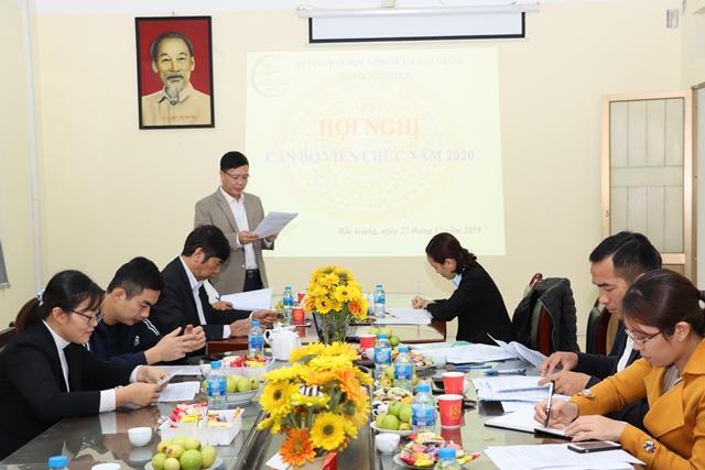 Khoa Nông học tổ chức Hội nghị cán bộ, viên chức năm 2019